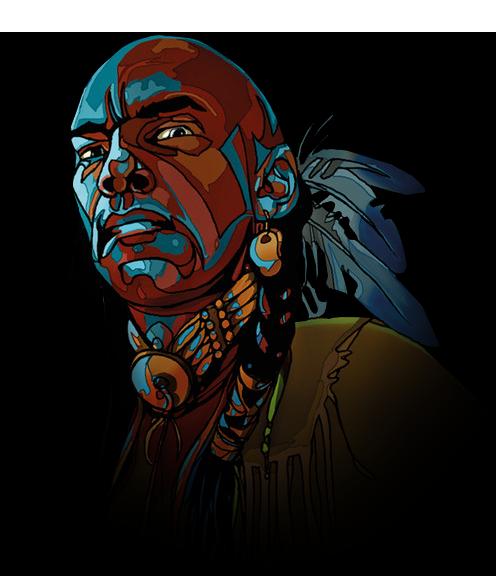 Die Drei ??? (Fragezeichen) - Indianer Footer Internetseite